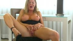 Huge Breasted MILF Wanking To An Intense Orgasm