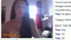 Hot Girl Plays The Omegle Game Until She Ejaculates