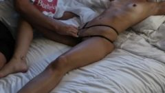 Tiny MILF Gets Smashed Raw Til She Jizzes Then Rides His Massive Kissable Penis