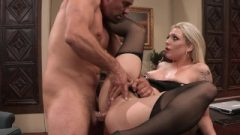 Bailey Blue Gets Railed In The Ass-Hole On Camera Until She Spunks