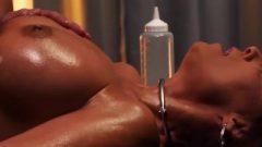 Racy Oil Massage Wank Off With Milf