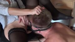 Double Penetration With Huge Strap On In Ass-Hole And Penis In Pussy And Squirting