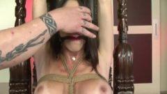 Provoking Brunette In Strict Bondage 1