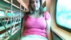 Alix Lakehurst Masturbates On A Public Train By Twistedworlds