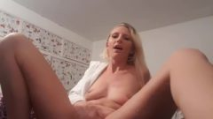 Cute Horny Golden-haired Squirts In Robe